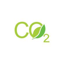 Letters Co2 Leaf Shape Symbol Logo Vector