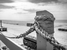 Knotted Rope On The Dock