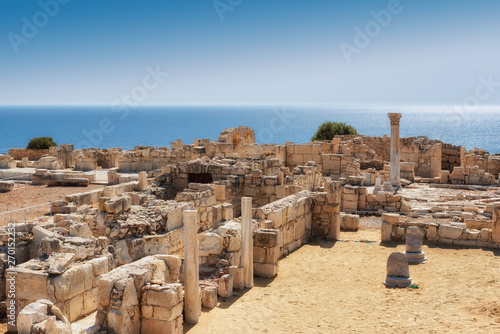 Fotobehang Cyprus Ancient columns in ruins of ancient Kourion. Limassol District. Cyprus