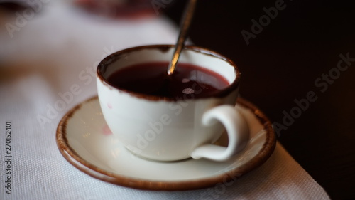Foto op Canvas Chocolade cup of coffee with chocolate