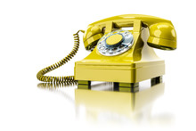 Old Yellow Dial-up Phone