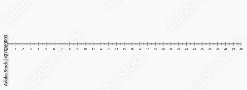 Obraz Ruler scale set vector illustration - fototapety do salonu