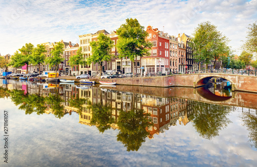 Netherlands, Amsterdam at day Canvas Print