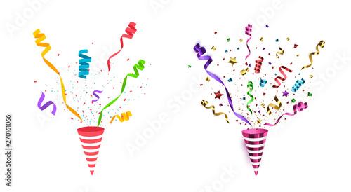 Fotografija  Vector confetti. Party popper isolated