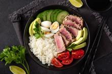 Grilled Tuna, Avocado, Tomato,...