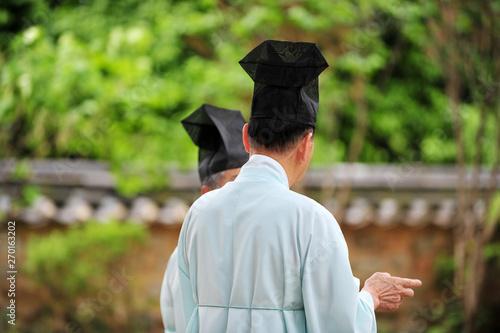 Fotografie, Tablou  The confucians in the Korean confucian temple.