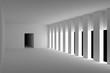 Empty Room Interior, 3d Render Illustration