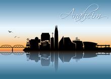 Anaheim Skyline - California -...