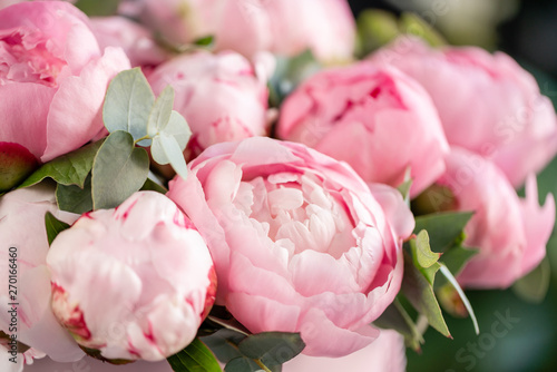 Canvas Print Close-up of flowers Pink peonies