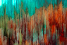 Autumn Background Texture, Teal And Red