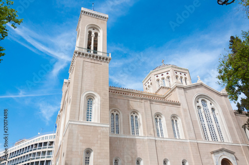 Photo The Metropolitan Cathedral of the Annunciation, is the cathedral church of the Archbishopric of Athens and all Greece