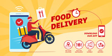 Fast Food Delivery App On A Smartphone