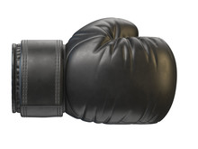 Black Boxing Glove Isolated On White Background 3d Rendering