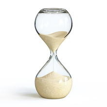 Hourglass On White Background,...