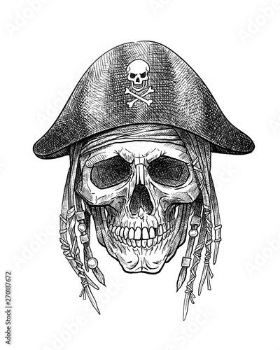 Fotografija  Skull pirate in hat