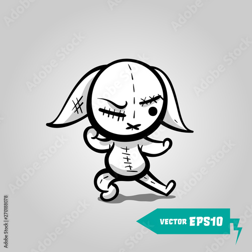 Photographie Angry sewn voodoo bunny