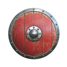 Wooden Medieval Round Shield, ...