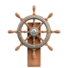 Ship Wheel With Stand Isolated...