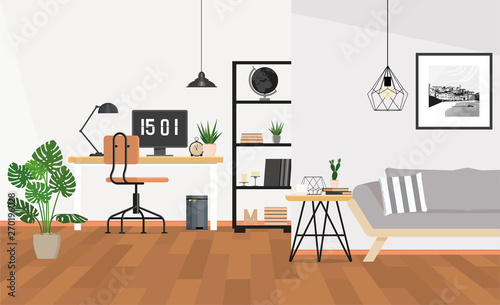 Obraz Modern interior design office space - fototapety do salonu