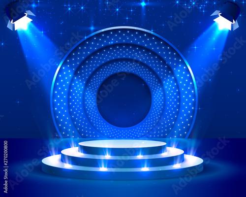 Obraz na płótnie Stage Podium Scene with for Award Ceremony