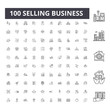 Selling business line icons, signs, vector set, outline concept illustration