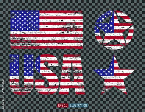 Obraz na płótnie Set of USA symbols