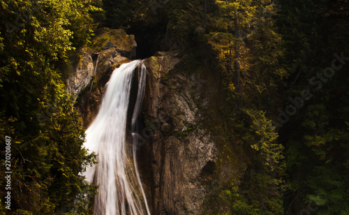 waterfall in forest in washington state