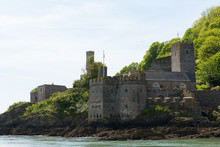 Dartmouth Castle Viewed From The River Dart Devon Uk