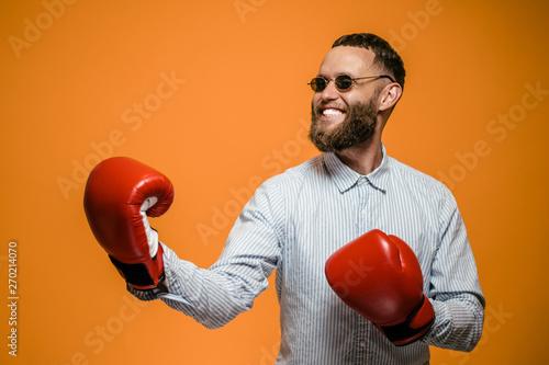 Fotografia Crazy hipster guy emotions