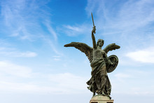 Winged Victory - Ponte Vittorio Emanuele II - Rome Italy