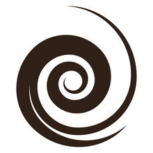 Brown Spiral Shape, Vector Ill...