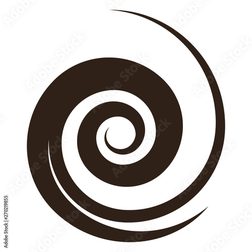 Obraz brown spiral shape, vector illustration - fototapety do salonu