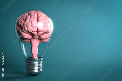 Fototapeta 3D Illustration Glühbirne Intelligenz obraz na płótnie