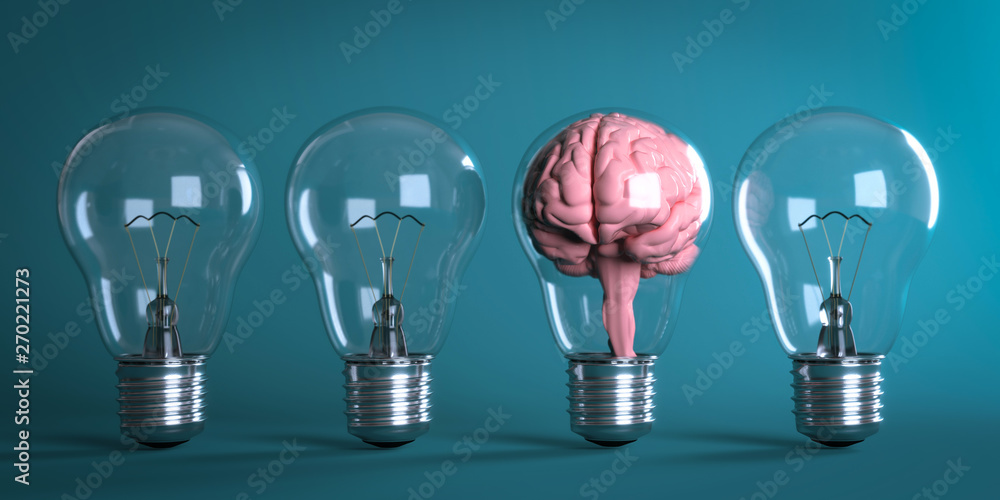 Fototapety, obrazy: 3D Illustratiuon Glühbirnen Kreative