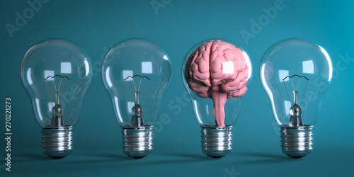 Photo  3D Illustratiuon Glühbirnen Kreative