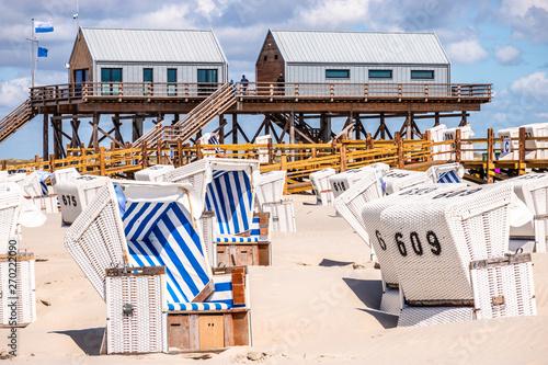 Foto auf Gartenposter Weiß beach at sankt peter ording