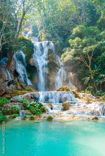 Wall Murals Waterfalls Kuang Si Waterfall, Laos