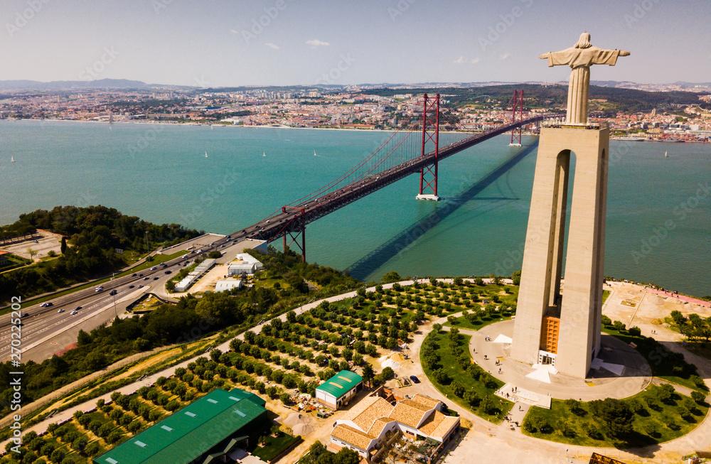 Leinwandbild Motiv - JackF : 25th of April bridge in Lisbon