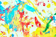Abstract oil paint texture on white canvas, colorful abstract background.