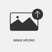 Image Upload Vector Icon Illus...