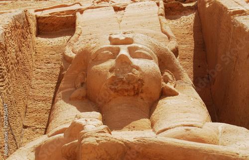 Fototapeta Ancient statues and artifacts of Abu Simbel, Egypt
