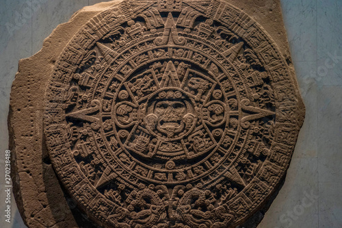 MEXICO CITY, MEXICO - JANUARY 31 2019 - mexico city anthropology museum Canvas Print