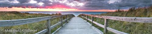 Foto auf Gartenposter Khaki Panorama vom Ostsee Steg