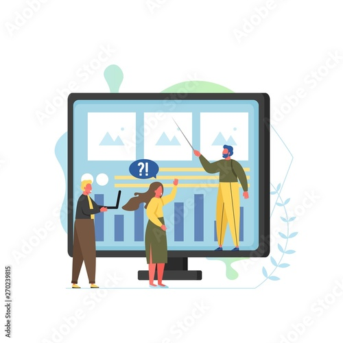 Consulting services vector flat style design illustration