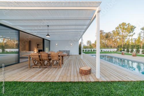 Fotografie, Obraz  Modern villa with pool and garden