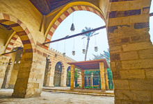 In Arcade Of Aqsunqur (Blue) Mosque Of Cairo, Egypt