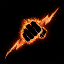The Burning Fist Squeezes A Li...