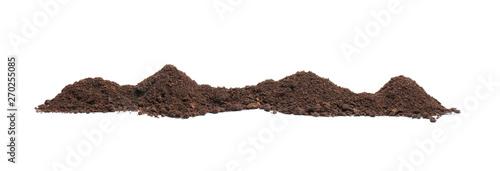 Fotografia, Obraz Pile of humus soil isolated on white