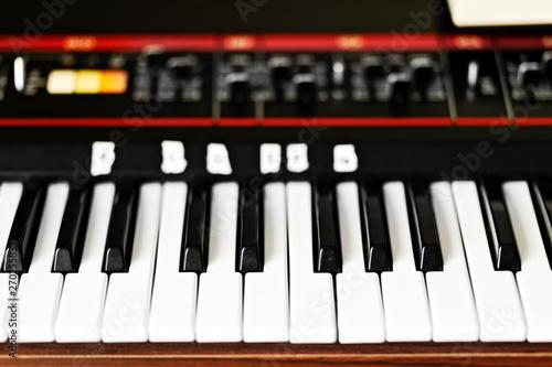 Vászonkép  Vintage Analog Synthesizer Keyboard