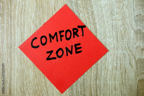 Fototapety, obrazy: Comfort zone text written on red sticker